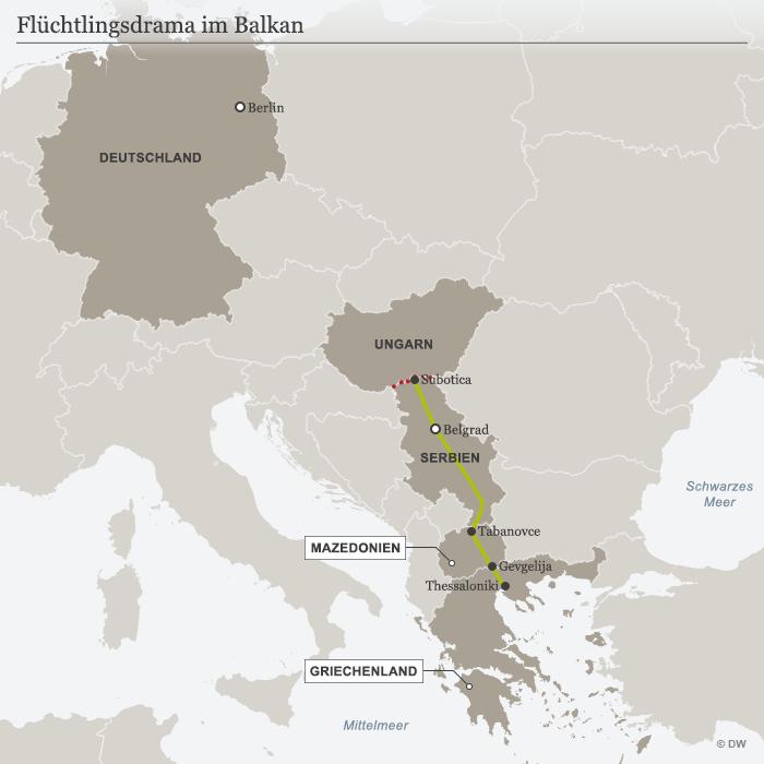 grenze serbien mazedonien