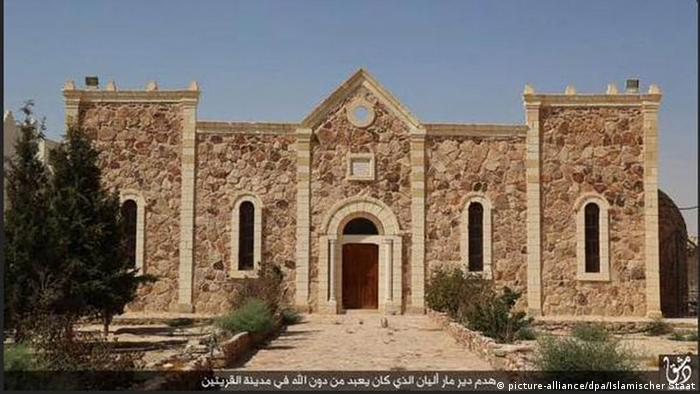 The Mar Elian monastery in Syria before it was demolished by Islamic State militants.