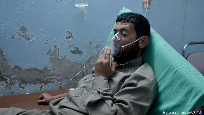 Symbolbilod Syrien Chlorgas Opfer