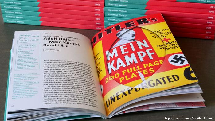 Programa do grupo de teatro Rimini Protokoll, que prepara peça sobre o polêmico livro