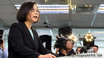 Oppositionsführerin Tsai Ing-wen (Foto: Getty Images/AFP)