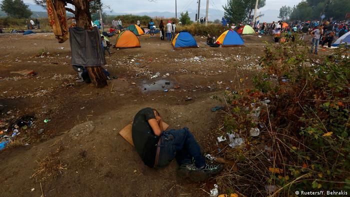 Griechenland, Flüchtlinge an der Grenze zu Mazedonien
