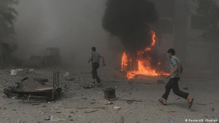 Syrien Luftangriffe Douma Damskus Archiv