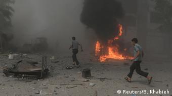 Air raid on Damascus in August, 2015, Copyright: Reuters/B. Khabieh