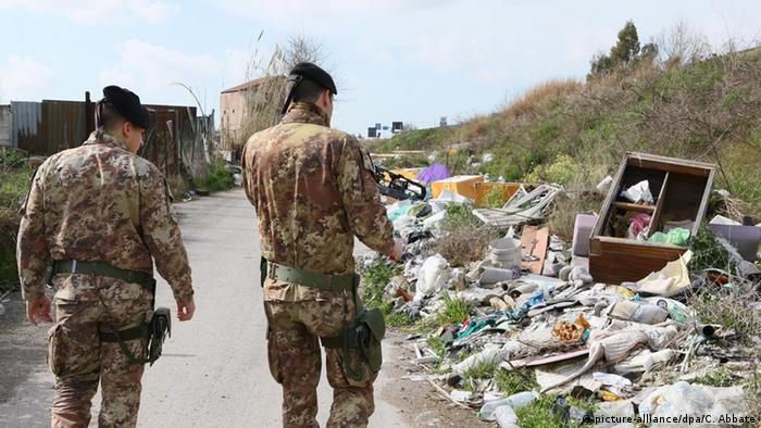 Illegal waste dump in Naples (Photo: EPA/CESARE ABBATE)