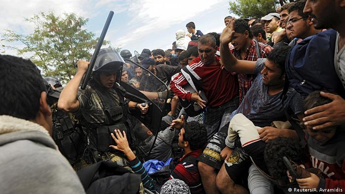 Flüchtlinge Mazedonien Griechenland Grenze