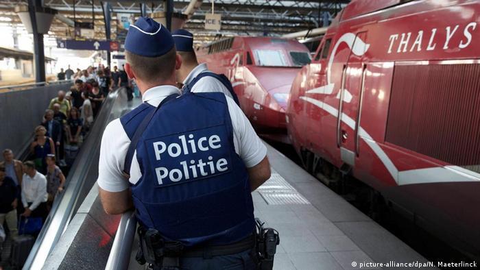 Полиция у поезда Thalys