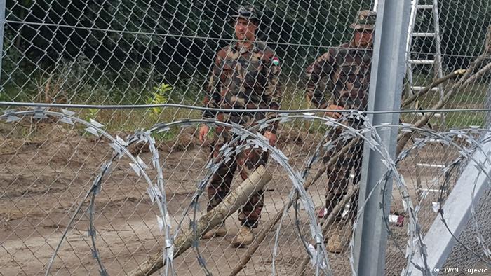 Hungarian border fence