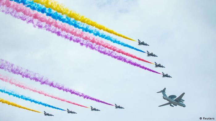 China Militärparade Ende 2. Weltkrieg in Peking
