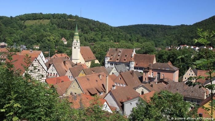 Blick über die Stadt Pappenheim in Bayern