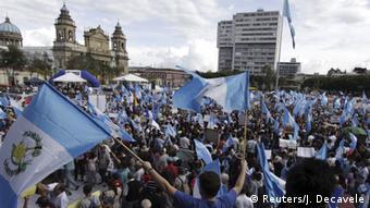 Guatemala Protest gegen Präsident Otto Perez Molina