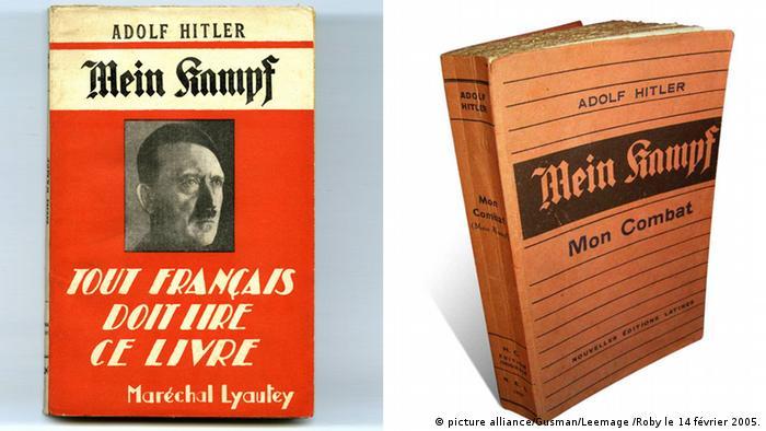 Kombibild Buchcover Adolf Hitler Mein Kampf französisch