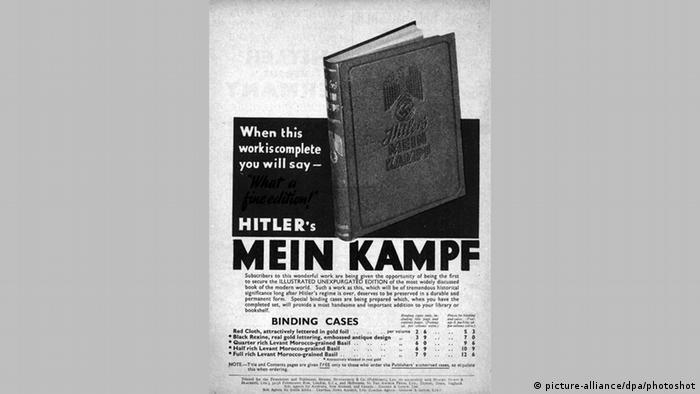 Buch Mein Kampf Adolf Hitler Werbung Englisch