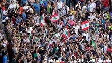 Protesten gegen Müll-Krise im Libanon