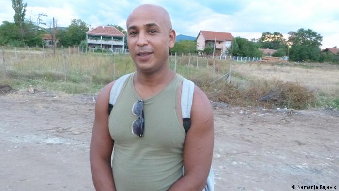 Zaman aus Marokko Flüchtling Mazedonien Gevgelija