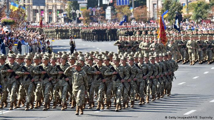 Під час військового параду в Києві 24 серпня