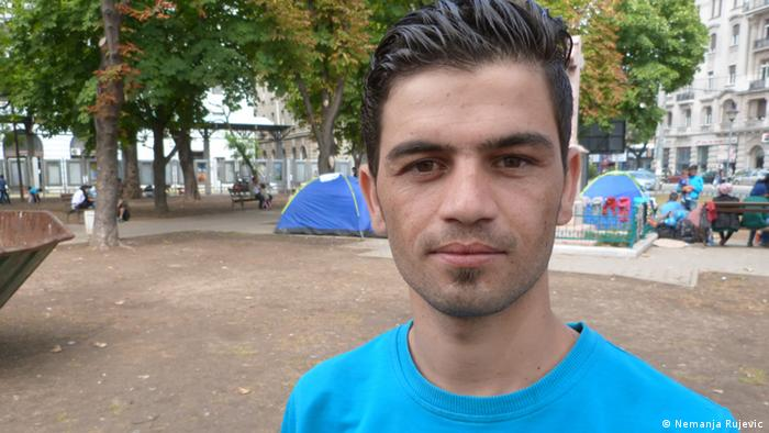 Ahmad aus Irak Flüchtling Belgrad Serbien