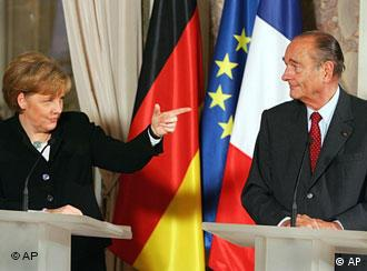 Angela Merkel and Jacques Chirac hope to get the constitution back on track
