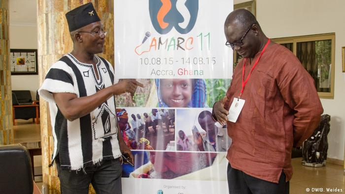 We need to get listeners more involved, said Kofi Larweh (left), member of GCRN's executive board