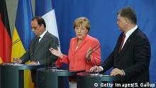 Deutschland Merkel Hollande Poroschenko in Berlin