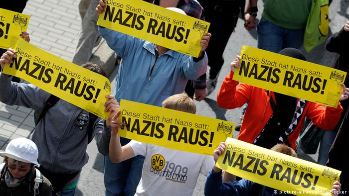 Counter-protestors usually outnumber the neo-Nazis and the police have clamped down on the slogans 'die Rechte' are allowed to chant and what neighbors they can protest in.