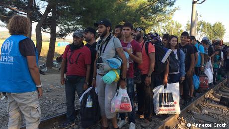 Griechenland Idomeni Flüchtlinge an der Grenze zu Fyrom