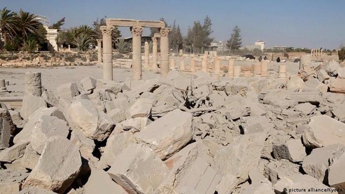 Templo de Bel, en Palmira, bombardeado por Estado Islámico.