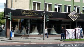 A bridal shop window in Marxloh