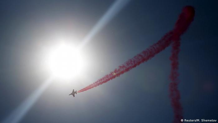 Показательный полет Як-130