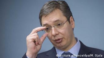 Serbien Regierungschef Alexander Vucic
