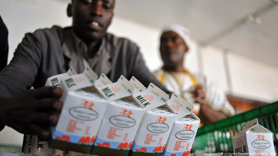 Markt Lebensmittel Kenia Symbolbild Milch Produktion