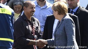 Heidenau - Bundeskanzlerin Angela Merkel