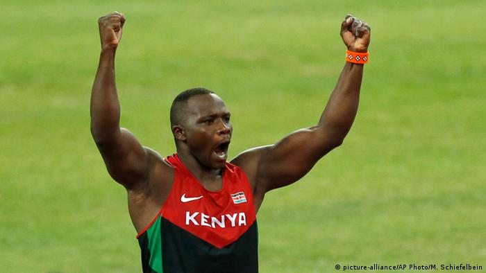 China Sperrwerfer Julius Yego aus Kenia