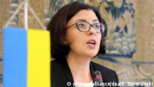 Ukrainische Parlamentsabgeordnete Oxana Syroiid