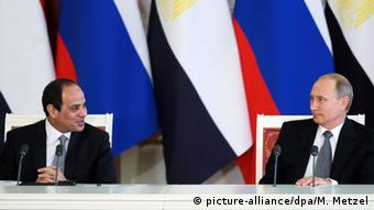 Moskau - Wladimir Putin und Abd al-Fattah as-Sisi im Kreml