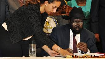 Südsudan - Unterzeichnung des Friedensvertrags von Salva Kiir