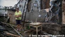 Ukraine Zolote Ruine Zivilisten