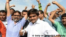 Indien Protestmarsch Hardik Patel (Getty Images/AFP/S. Panthaky)