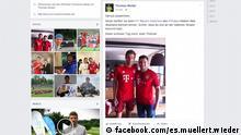 Screenshot Facebook-Seite von Thomas Müller EINSCHRÄNKUNG