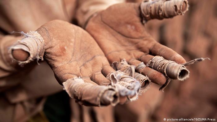 Bangladesh Arbeiter Ziegelsteinfabrik