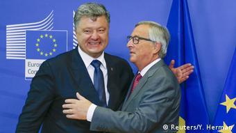 BelgienTreffen Poroschenko und Juncker Brüssel