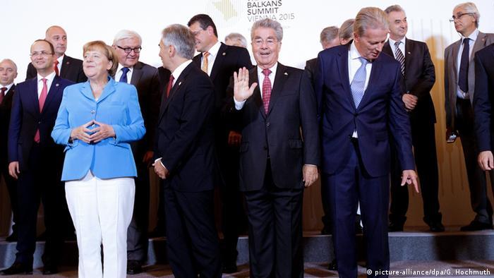 West Balkan Konferenz Angela Merkel Gruppenfoto Wien Österreich Heinz Fischer Österreich Edi Rama Albanien