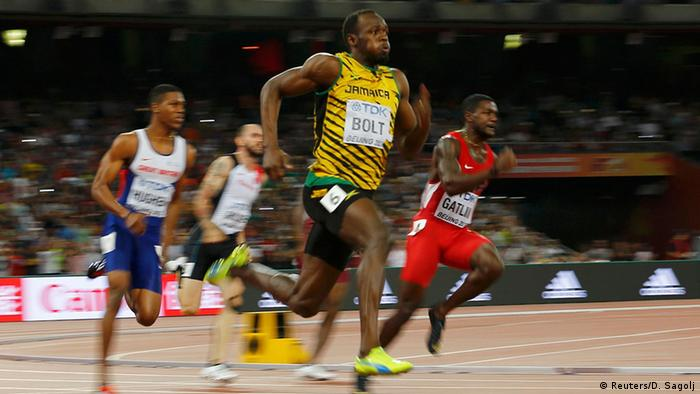 China Leichtathletik-WM 2015 Peking 200-Meter-Finale Sprinter Usain Bolt