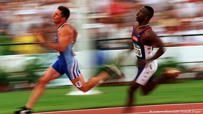 George Panayiotopoulos Griechenland Michael Johnson USA Olympische Sommerspiele Atlanta 1996