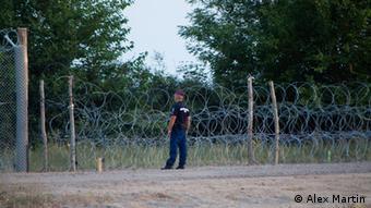 Hungarian border guard (Photo: Alex Martin)
