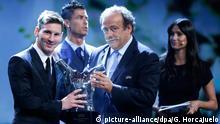 Monaco Fußballer Lionel Messi UEFA Preis 2015