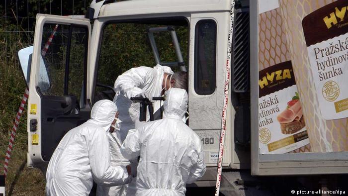 Schlepper-LKW in Österreich wird untersucht