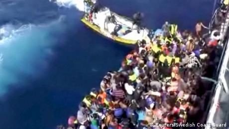 Libyen Flüchtlinge Rettung Schiff Poseidon