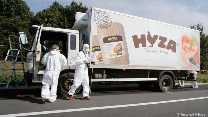 The truck 71 dead asylum-seekers were found in in Austria in 2015
