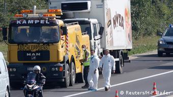 Österreich Tote Flüchtlinge in LKW entdeckt Parndorf Neusiedl am See